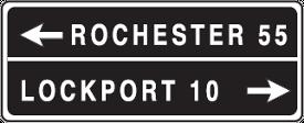 destination signs