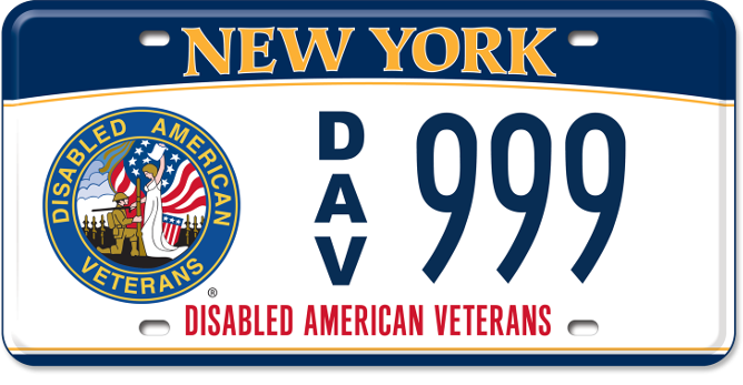 Disabled American Veteran custom vehicle plate