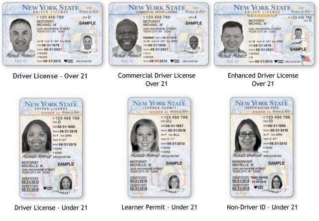 NYS Driver License, Learner Permit and Non-Driver ID