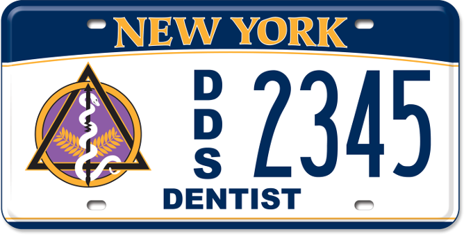 Doctor of Dental Surgery custom plate