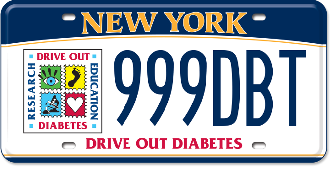Drive out Diabetes custom plates