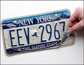 empire blue peeling plate