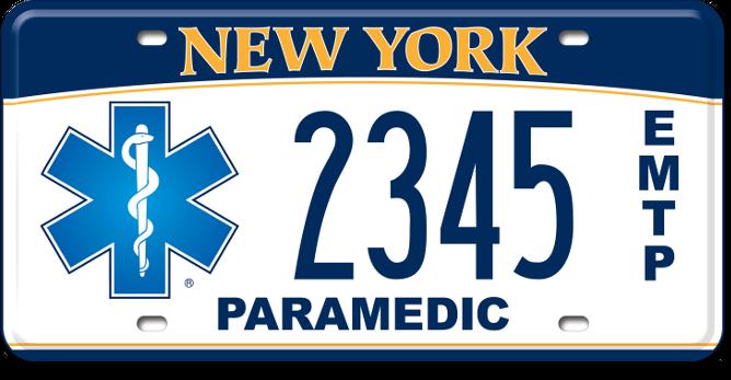 Emergency Medical Technician Paramedic custom plate