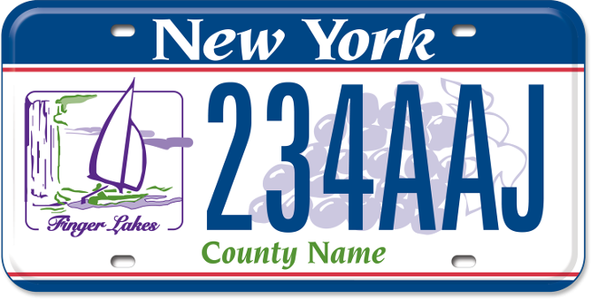 Finger Lakes Region custom plate