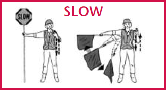 flag woman - slow