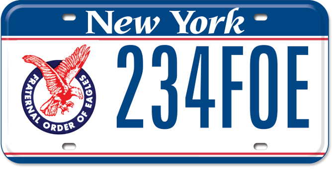 Fraternal Order of Eagles custom plate