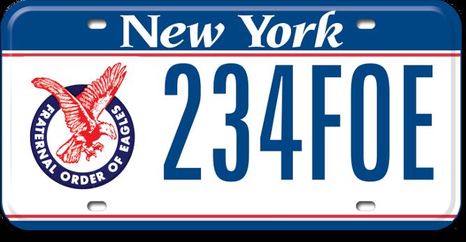 Fraternal Order of Eagles custom plate