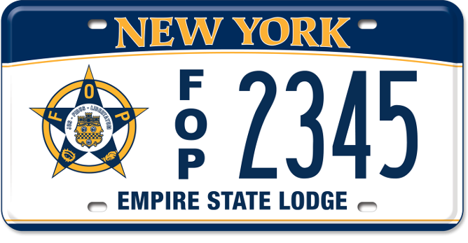Fraternal Order of Police custom vehicle plate
