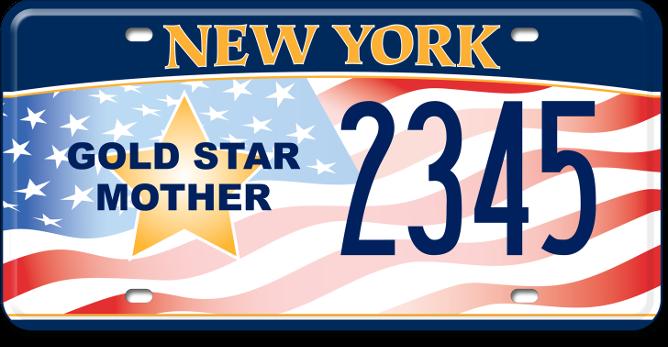 Gold Star Mother custom plate