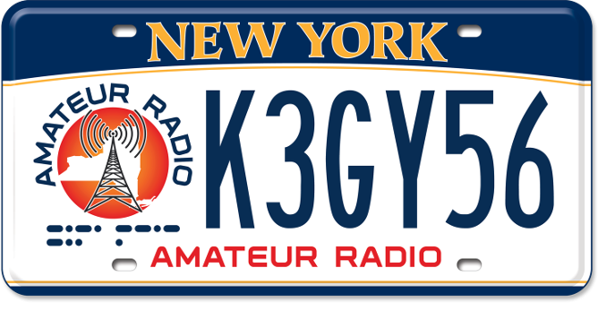 Ham Radio Operator custom plate