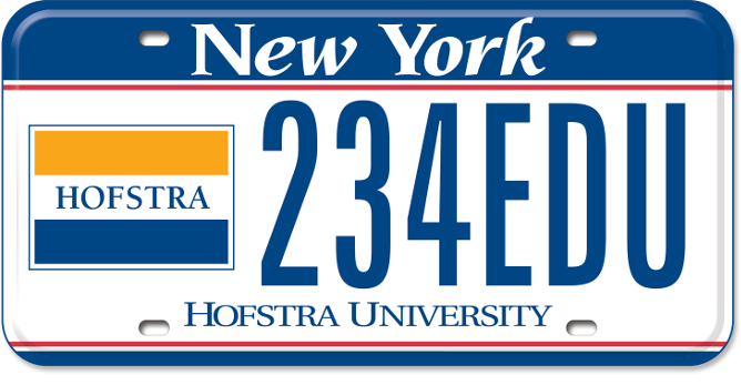 Hofstra University custom plate