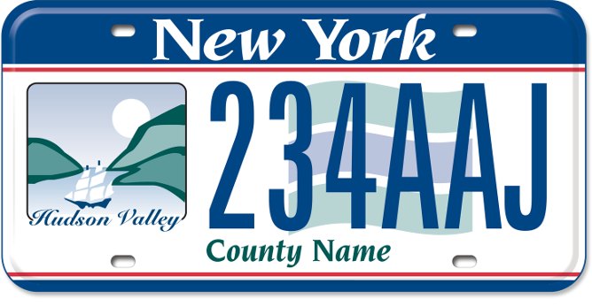 Hudson Valley Region custom plate