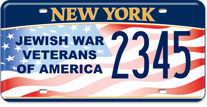Jewish War Veterans of America custom plate