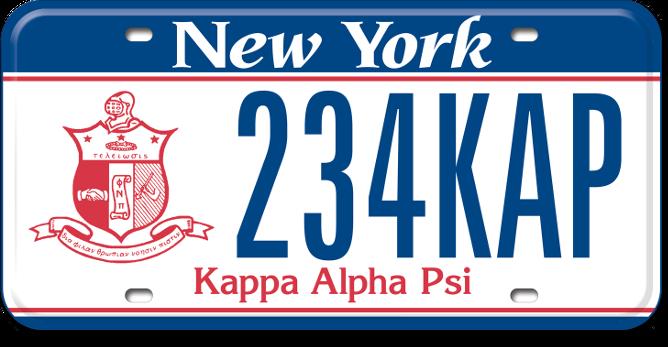 Kappa Alpha Psi custom plate