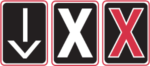 traffic lights controlling lane use