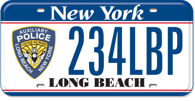 Long Beach Auxiliary Police custom plate