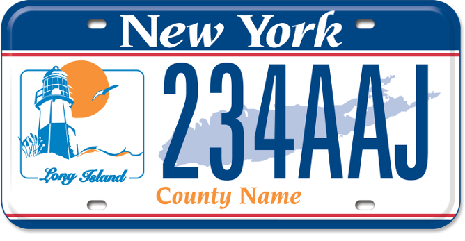Long Island Region custom plate
