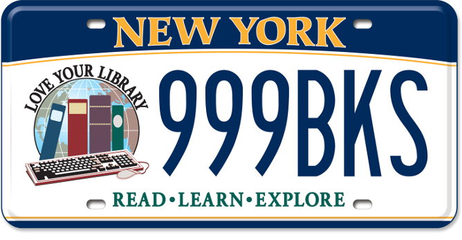 Love your Library custom plate