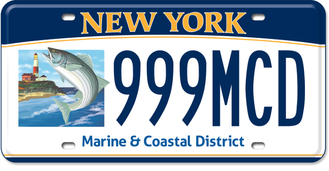 Marine and Coastal District of New York Environmental custom plate