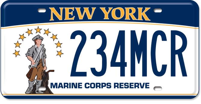 Marine Corps Reserve custom plate