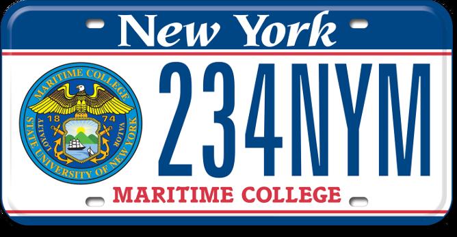 Maritime College custom plate