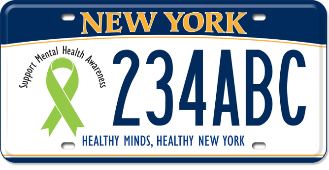 Mental Illness Awareness custom plate