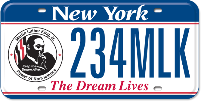 Martin Luther King, Jr. custom plate