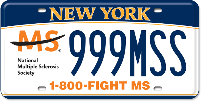 Multiple Sclerosis Society custom plate