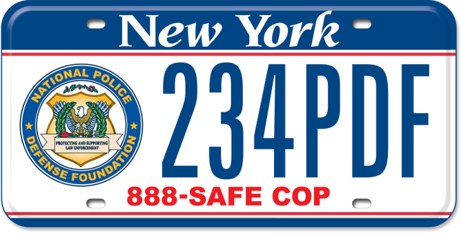 National Police Defense Foundation custom plate