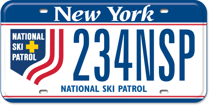 National Ski Patrol custom plate