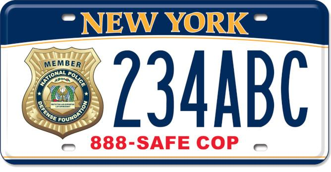 National Police Defense Fund license plate