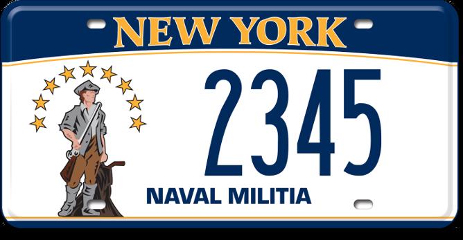 Naval Militia custom plate