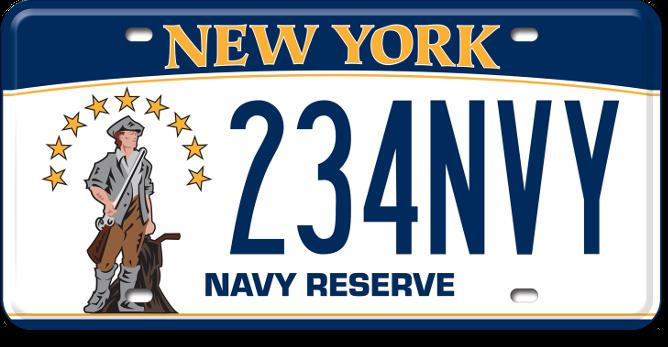 Navy Reserve custom plate