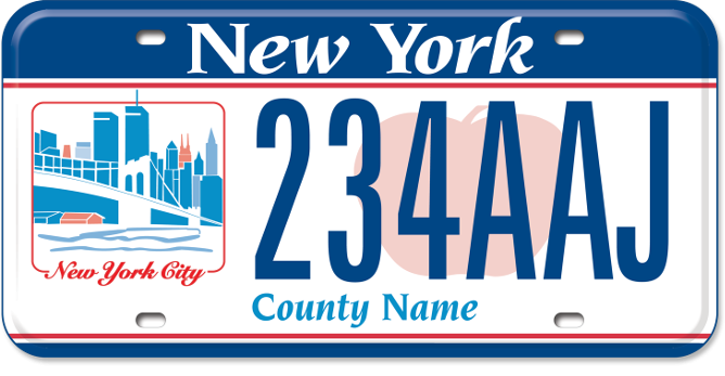 New York City Region custom plate