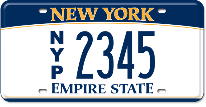 New York Press custom plate