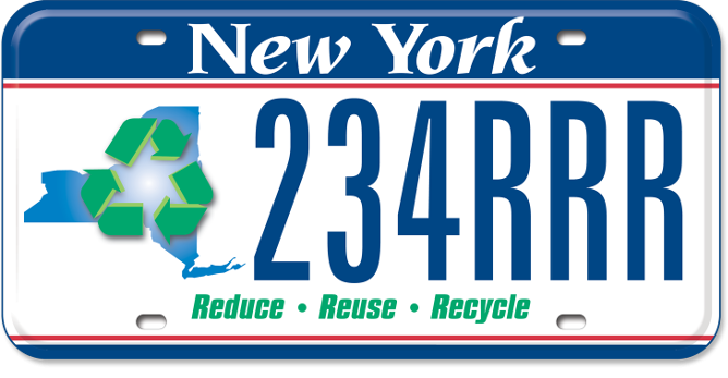 NY Association for Recycling, Reduction & Reuse custom plate