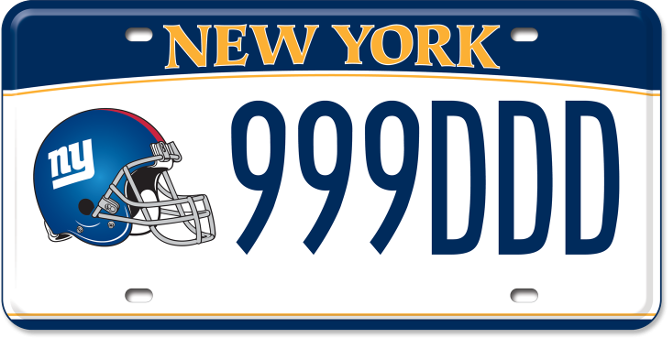 NY Giants custom plate