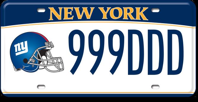 NY Giants custom plate