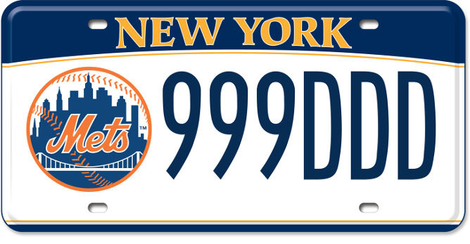 NY Mets custom plate
