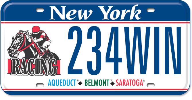 NY Racing Association custom plate