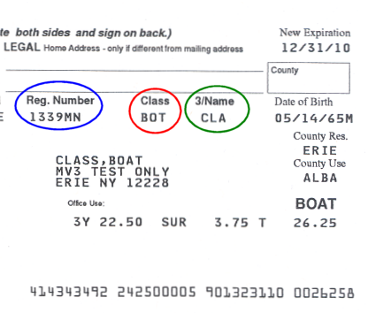 Sample Boat Registration Renewal Notice