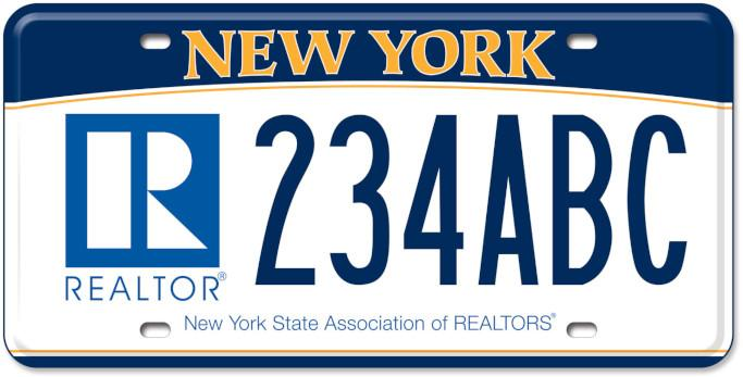 License plate with blue R in lower lefthand corner
