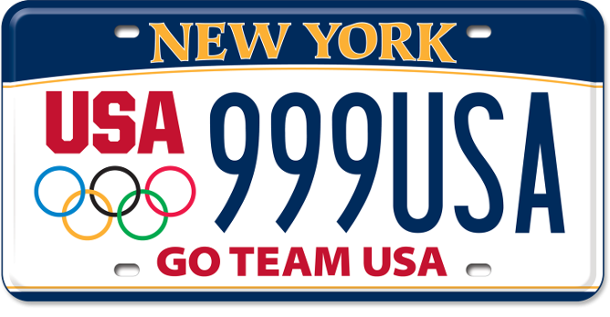Olympic Spirit custom plate