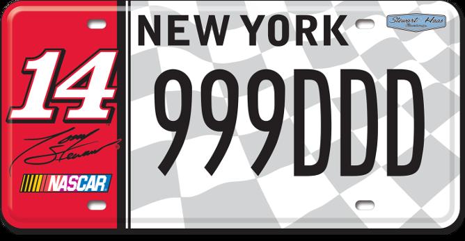 Tony Stewart custom plate