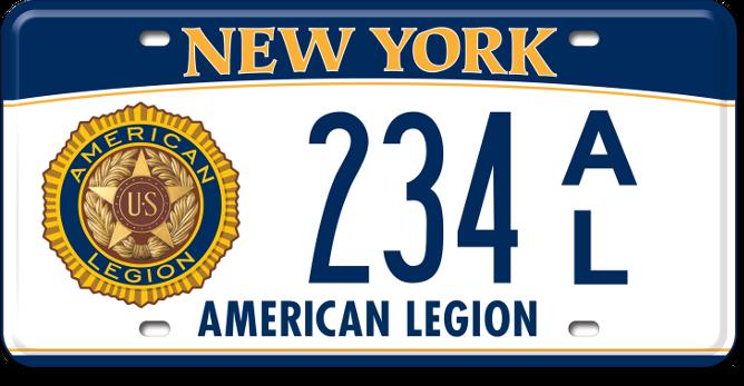 American Legion custom plate