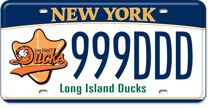 Long Island Ducks custom plate