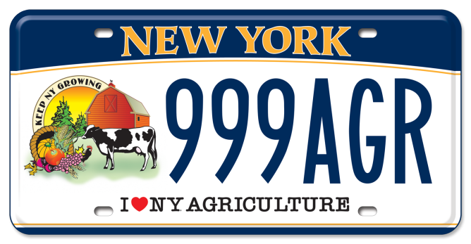 Agriculture in the Classroom custom plate