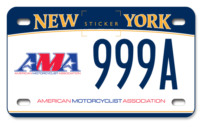 American Motorcyclist Association custom motorcycle plate
