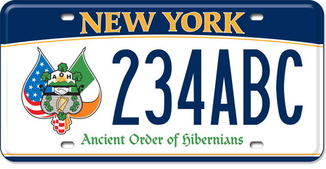 Ancient Order of Hibernians custom plate