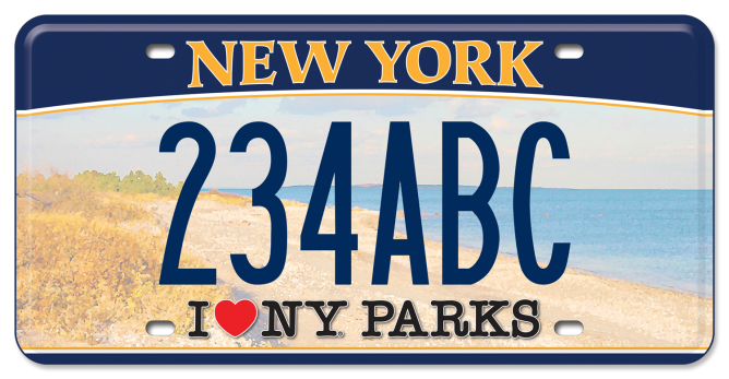 I Love NY Parks - Beach custom plate